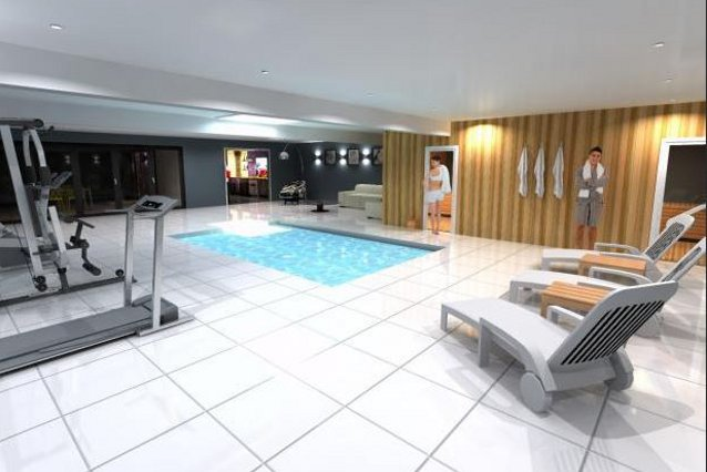 The gym at the Whiteoaks house