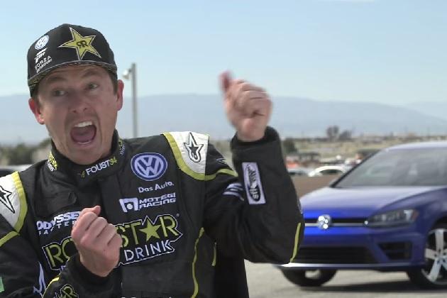 【ビデオ】タナー・ファウストが、VW「ゴルフ R」の走行音を口真似して有名コメディアンと対決!