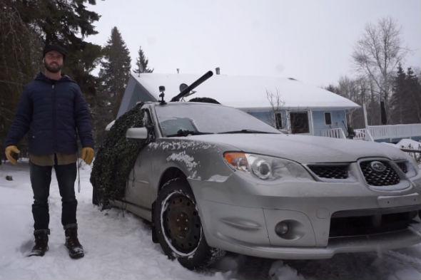 Subaru Impreza potato tank