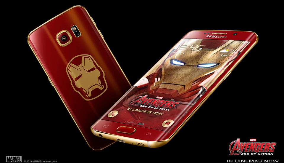 Samsung introduces galaxy s6 edge iron man limited edition.