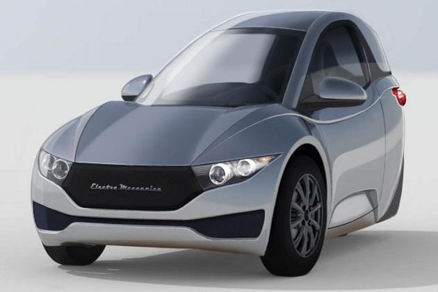 カナダの新興EVメーカーが販売を予定している1人乗り3輪電気自動車「ソロ」