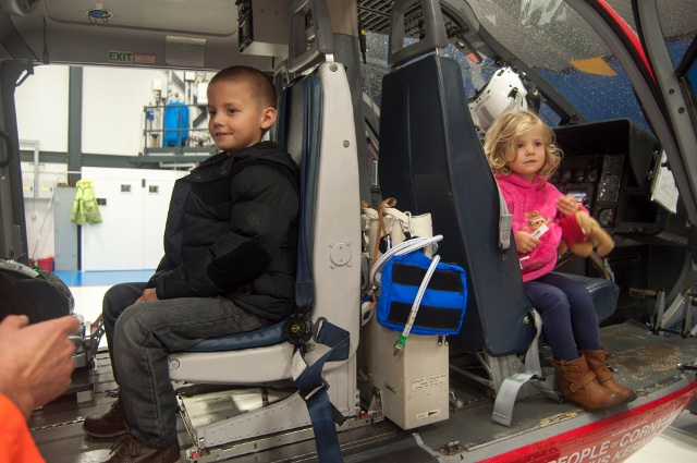 Dylan and Kyrie in the air ambulance