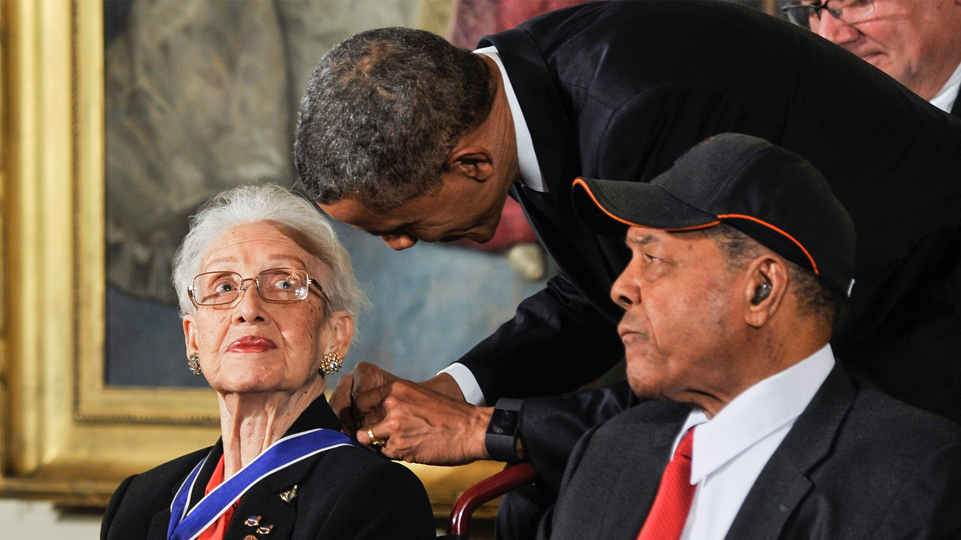 Johnson was awarded the Medal of Freedom, the nation's highest civilian honor, by President Barack Obama.