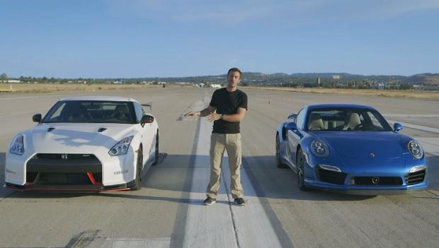 【ビデオ】「911ターボS」と「GT-R NISMO」、ドラッグレースの頂点はどっち?