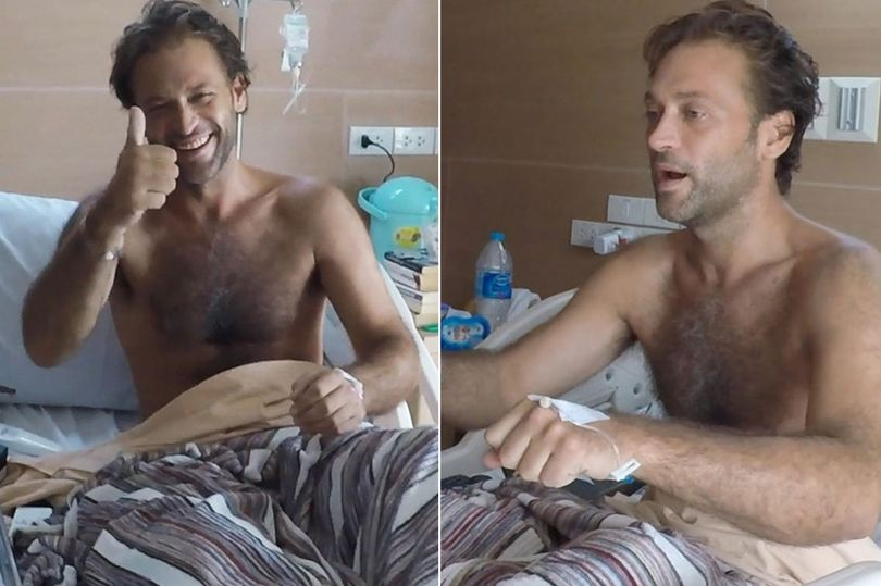Ex-Eastenders star smiling after falling from Thai waterfall