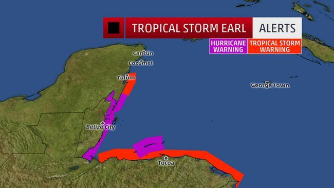 Tropical Storm Earl Brushes Honduras Hurricane Warnings