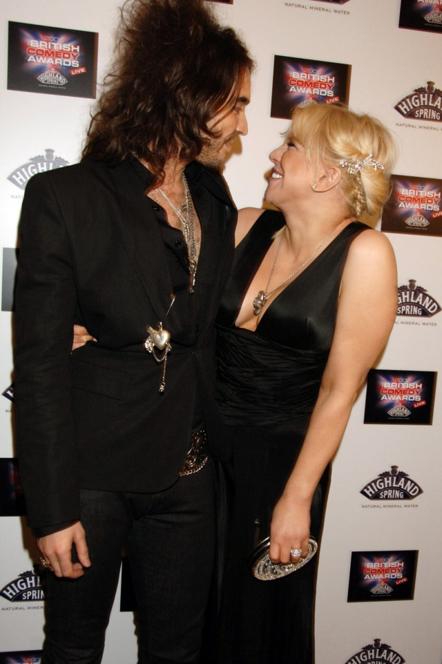 Courtney Love and Russell Brand