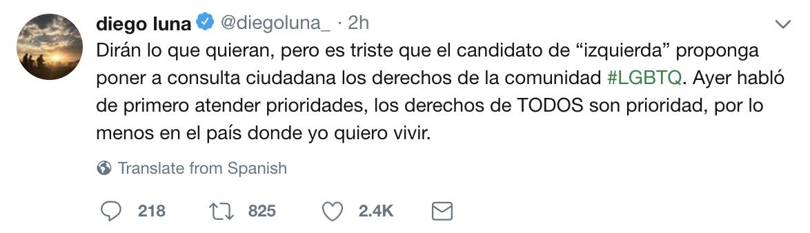La postura de López Obrador con la que Diego Luna ya no