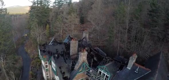 Fire destroys third of historic Scottish hotel