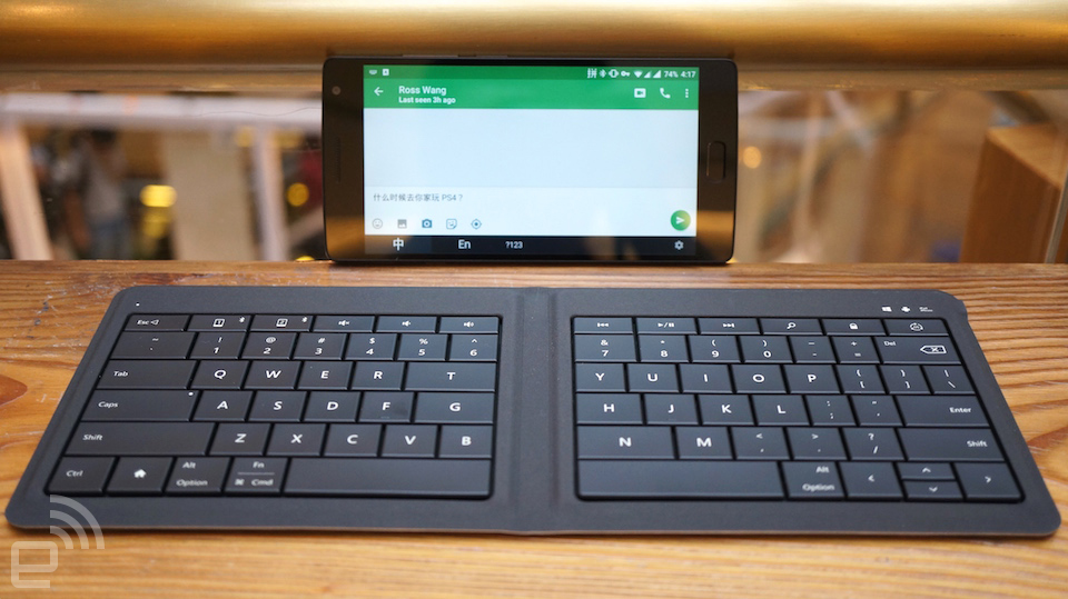 微软通用折叠式键盘评测:系统支持还是关键