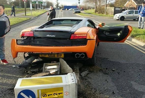 Lamborghini crash