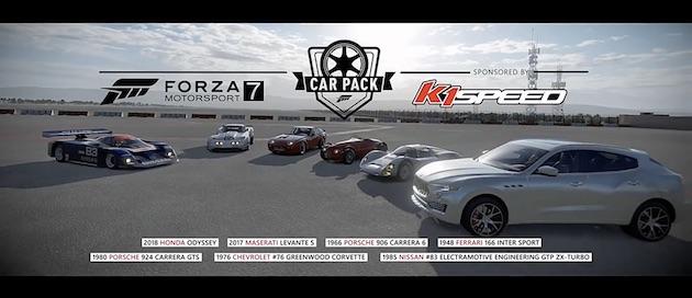『Forza Motorsport 7』最新カーパックには、歴史に名を残す数々のレースカーに加えてホンダ「オデッセイ」も登場!
