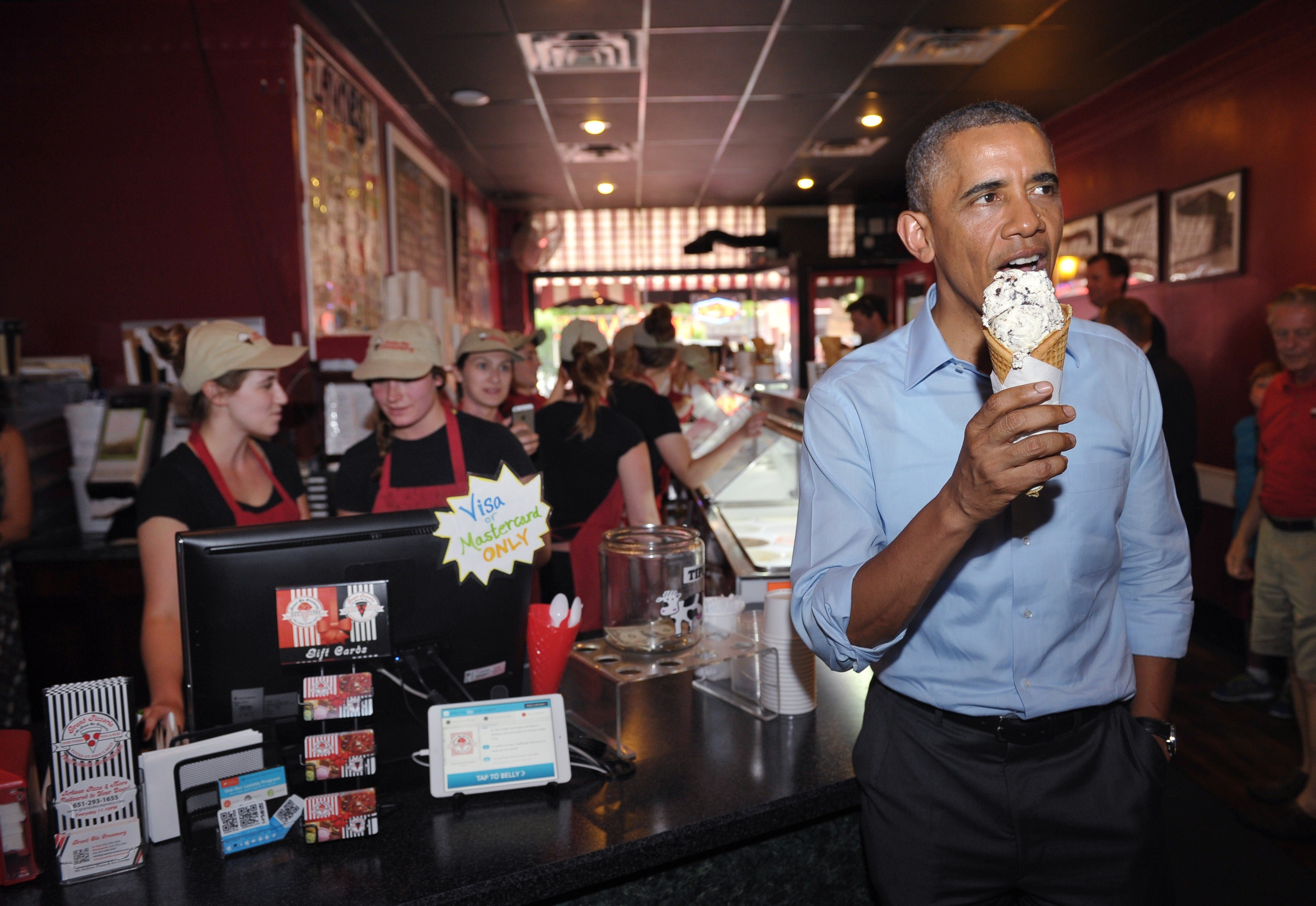 US-POLITICS-OBAMA-ICE CREME