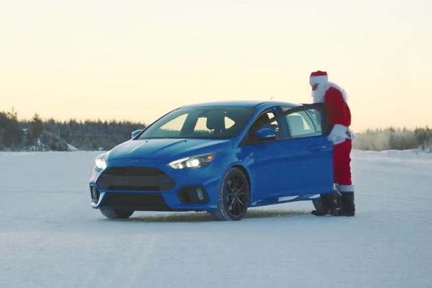 【ビデオ】毎年クリスマス恒例のフォードによる動画『スノーカーナ』 今年はサンタがドリフトを披露!