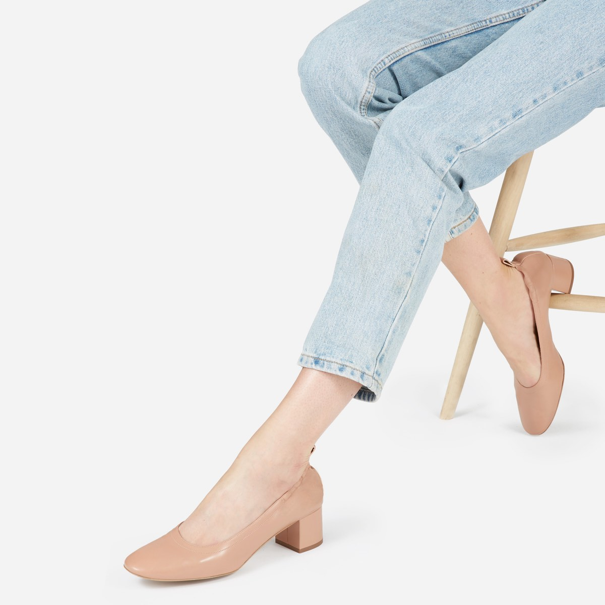 2a09bd21c0c So why the big hype  Everlane s latest best-seller is a heel that you can  actually walk in all day -- think a comfortable ballet flat with added  height.
