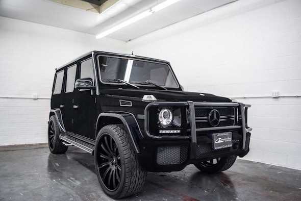 Kylie jenner 39 s tasteless mercedes g63 amg is up for grabs for Mercedes benz g wagon 6x6 for sale