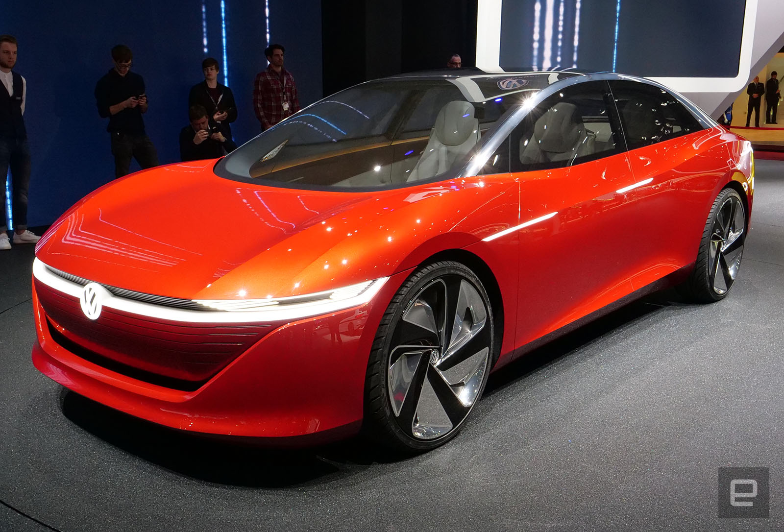 volkswagen s i d vizzion ev is all about a customized ride. Black Bedroom Furniture Sets. Home Design Ideas