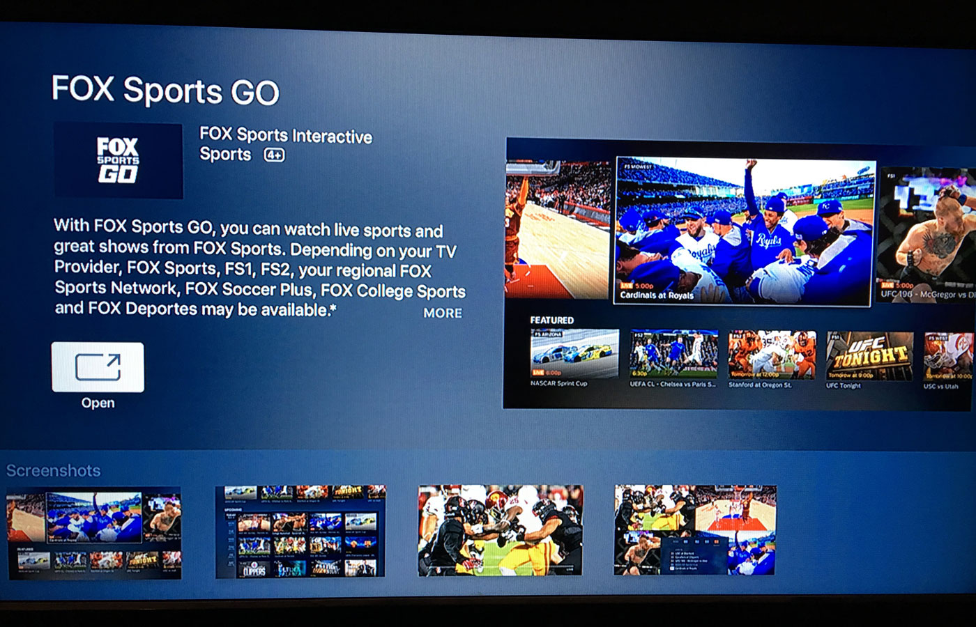 fox sports go android tv