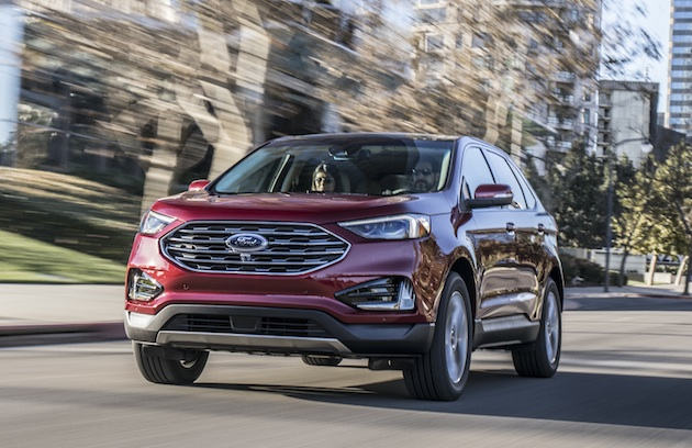 New Edge SUV lineup is Ford's smartest ever, offering more standard driver-assist technology than any other midsize SUV and introducing to the segment new available technologies such as Post-Collision Braking, Evasive Steering Assist and Adaptive Cruise Control with Stop-and-Go and Lane Centering.