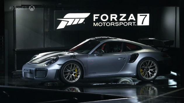ポルシェの新型「911 GT2 RS」、人気レース・ゲーム『Forza Motorsport 7』発表会で初公開!