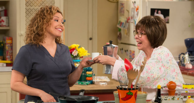 Justina Machado and Rita Moreno in Netflix's ONE DAY AT A TIME