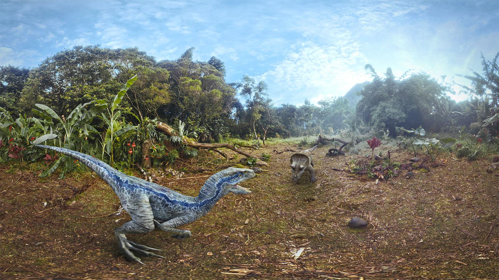 jurassic world blue tells a dinosaur s story on oculus vr headsets