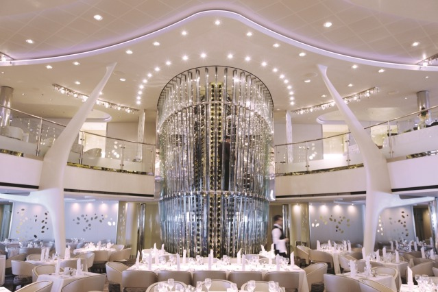 Celebrity Cruises wine tower