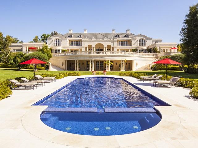 walt disney carolwood estate exterior with pool