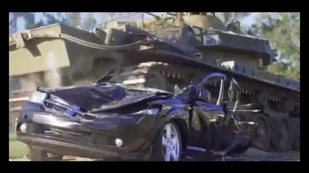 【ビデオ】オーストラリア人夫妻、所有するダッジ「ジャーニー」に不満を募らせ戦車で破壊!
