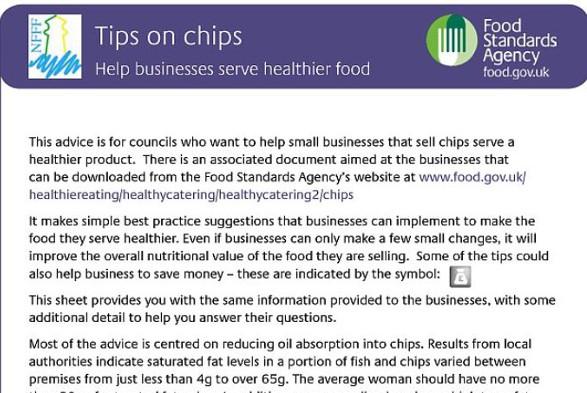 The chip shop leaflet