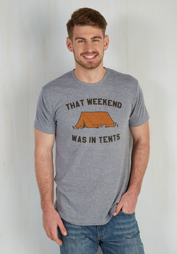 That weekend was in tents graphic tee