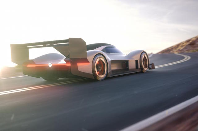 Volkswagen reveals its all-electric Pikes Peak hillclimb car
