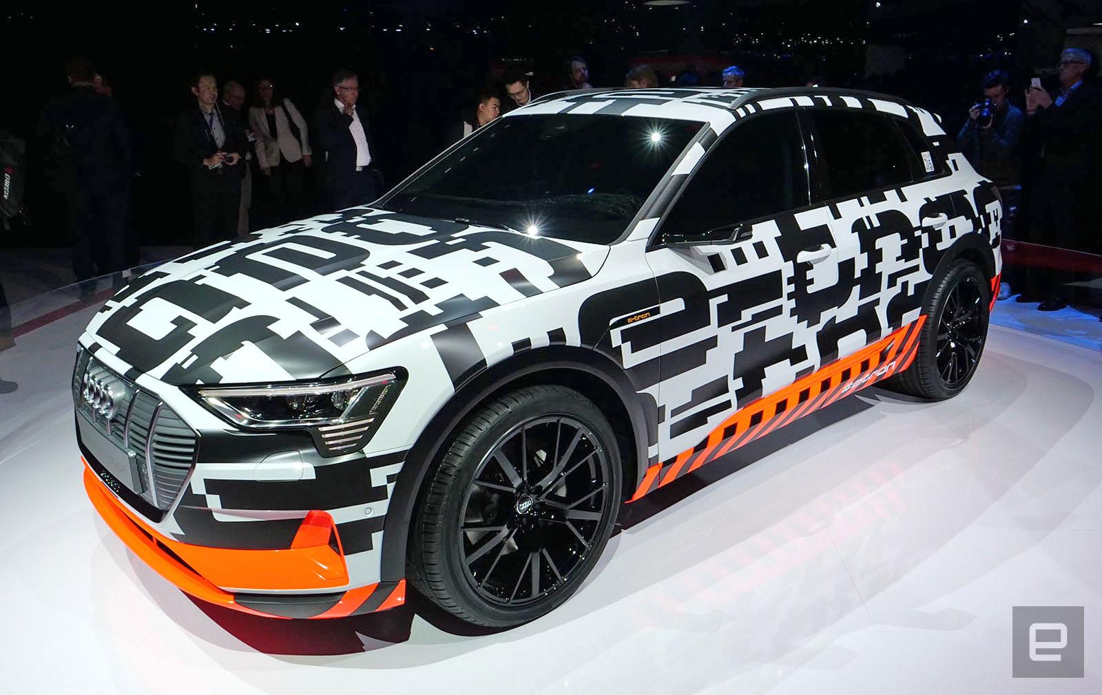 Audi Put 250 Camouflaged E Tron Prototypes On Geneva S Roads