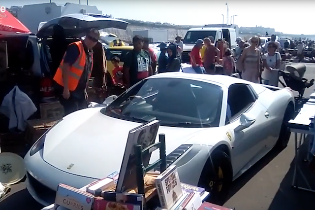 200 000 Ferrari Stranded In Middle Of Car Boot Sale Aol