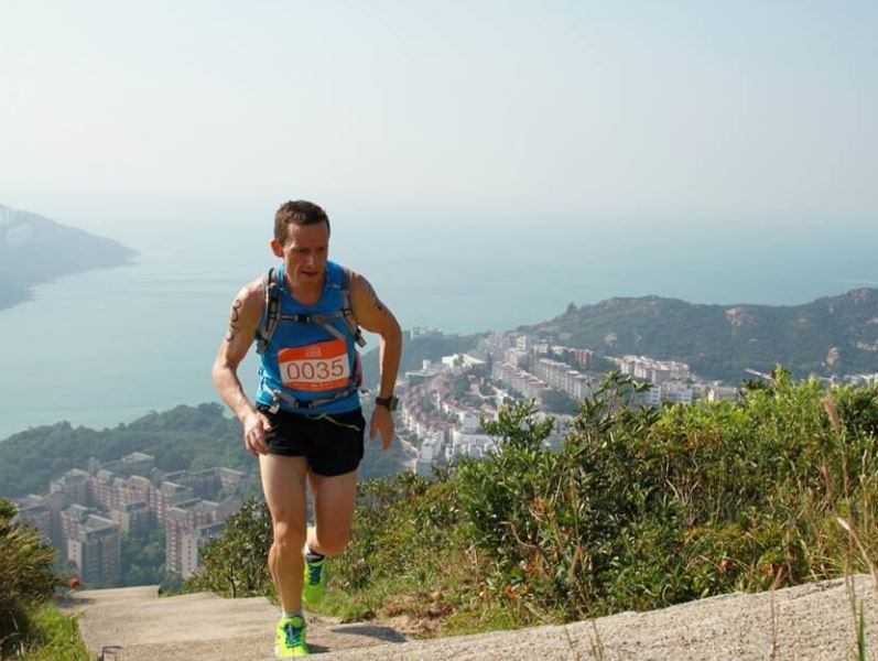 This is David competing in an 'aquathon' in his former home of Hong Kong -- an event combining road running,...
