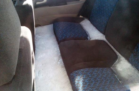 Frozen Lada interior