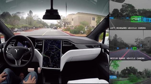 テスラ、完全自動運転車の「目線」を紹介するビデオを公開