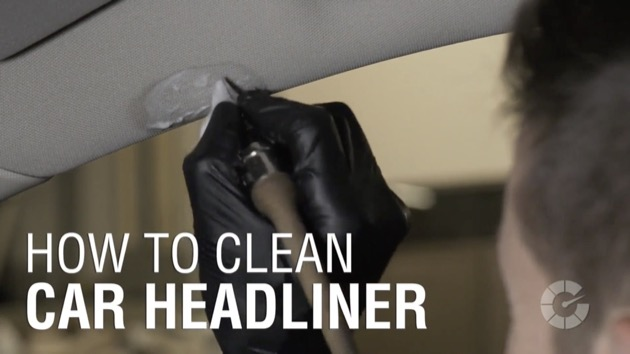 【ビデオ】コツがわかれば大丈夫! 剥がれやすく傷みやすいヘッドライナーの汚れをキレイに落とす方法!