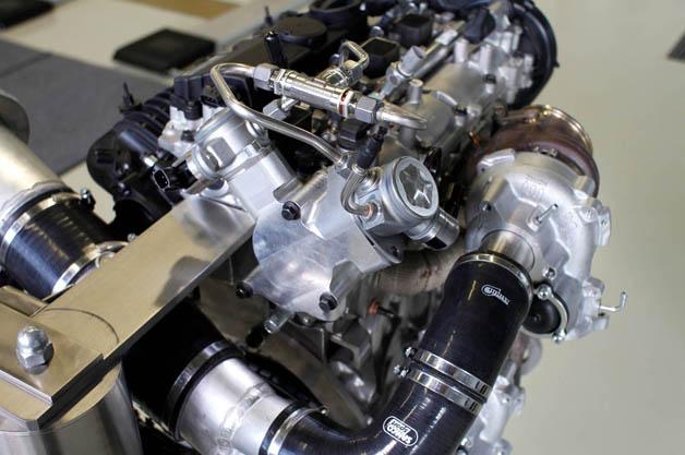 Volvo 450 horsepower four cylinder engine