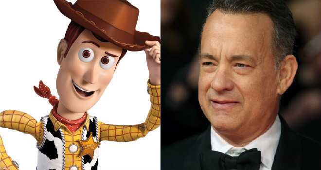 woody from Toy Story and Tom Hanks