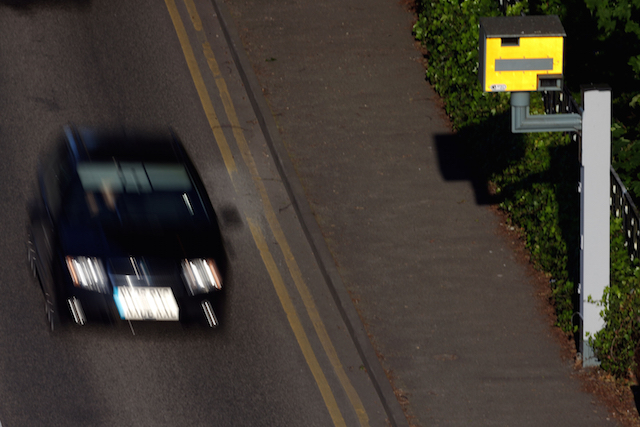 File photo dated 10/06/2015 of a speed camera in operation, as an average speed camera pilot scheme has slashed offences and seen more than 500 speeding tickets a month clocked up at one hotspot.