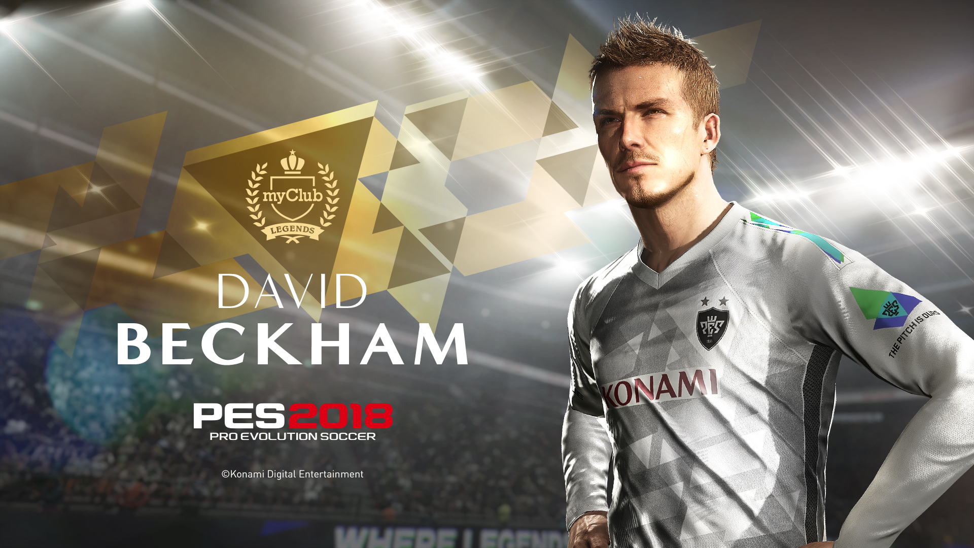 Play as David Beckham in his prime in 'PES 2018'