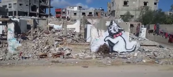 Banksy creates satirical film and new artwork in Gaza