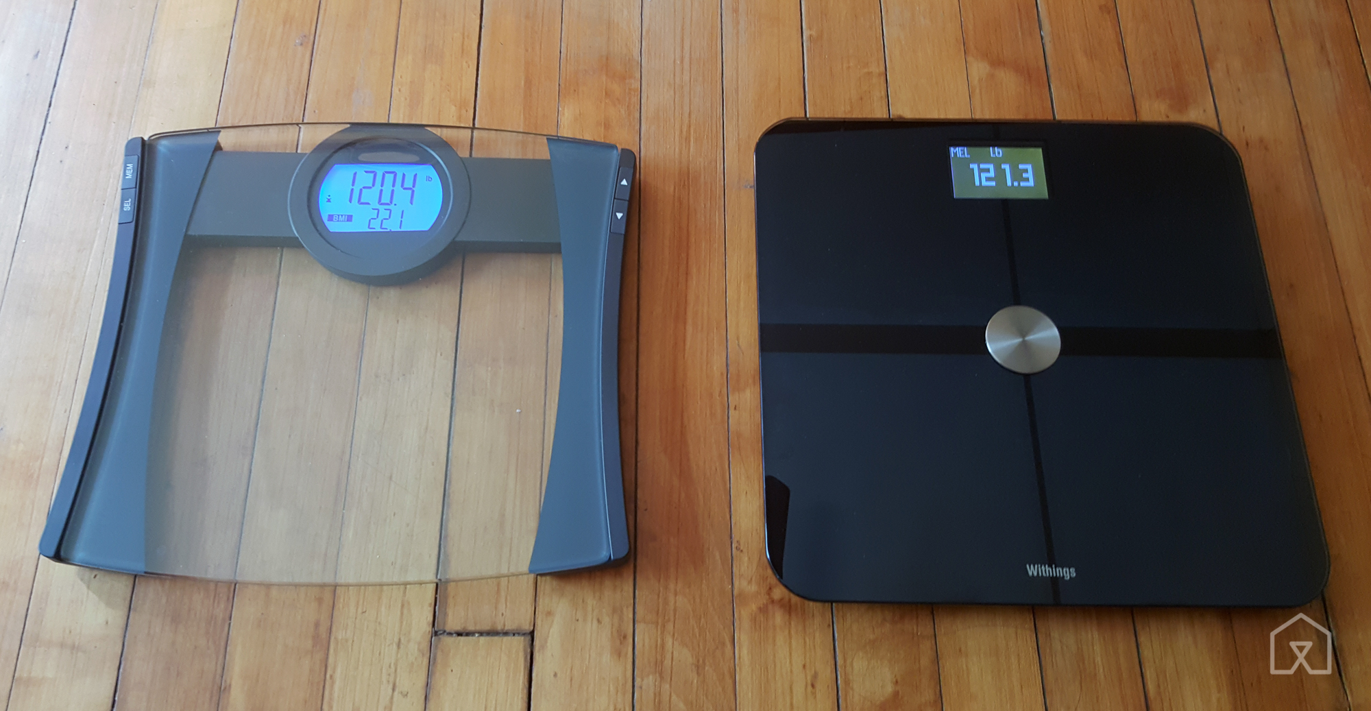 Stand up bathroom scales -