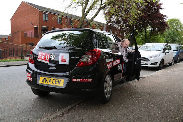EMBARGOED TO 0001 THURSDAY MAY 29 EDITORIAL USE ONLY EDS NOTE THIS IMAGE HAS BEEN SET UP Keith, 61, from West Wickham in Kent, who passed his driving test in 1971, takes a mock driving test in Lee, south east London, as part of a new study from Direct Line Car Insurance. PRESS ASSOCIATION Photo. Issue date: Thursday May 29, 2014. According to the study by Direct Line, which tested drivers to see how people pick up bad habits over time, 76% of experienced motorists would fail if they were to re-sit their driving test today. See PA story TRANSPORT DrivingTest. Photo credit should read: Geoff Caddick/PA Wire