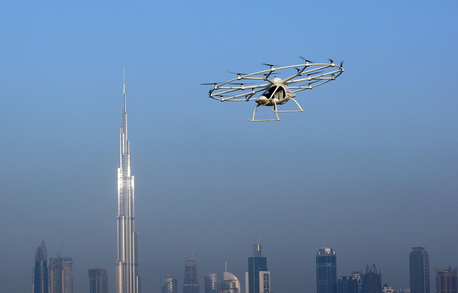 The flying taxi is seen in Dubai, United Arab Emirates September 25, 2017. REUTERS/Satish Kumar