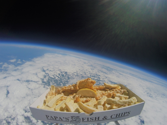 Fish and chips in space