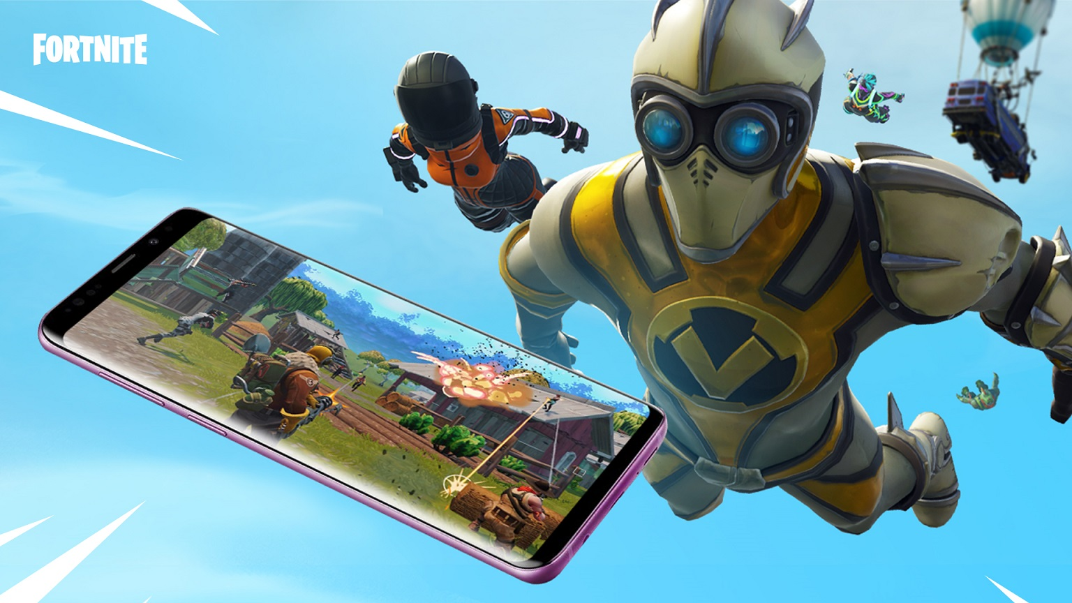 fortnite is now available on samsung galaxy phones - epic games fortnite samsung s10
