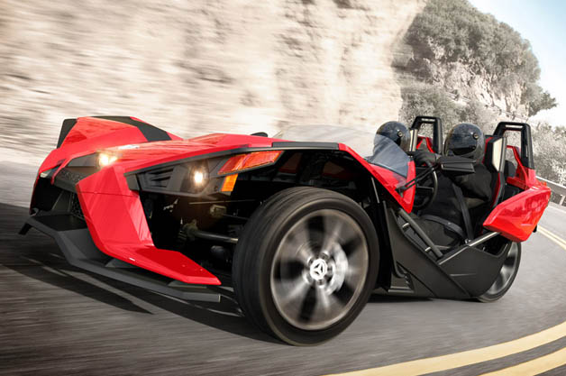 【ビデオ】全容が明らかになった米ポラリス社の新型3輪車「スリングショット」