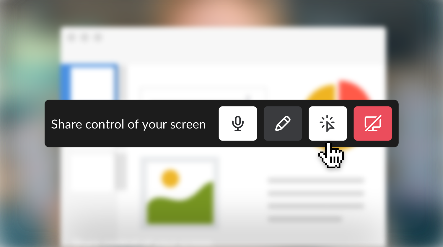 Slack screen sharing will let your coworkers control your